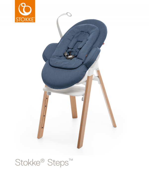 Stokke Steps Bouncer, шезлонг синий