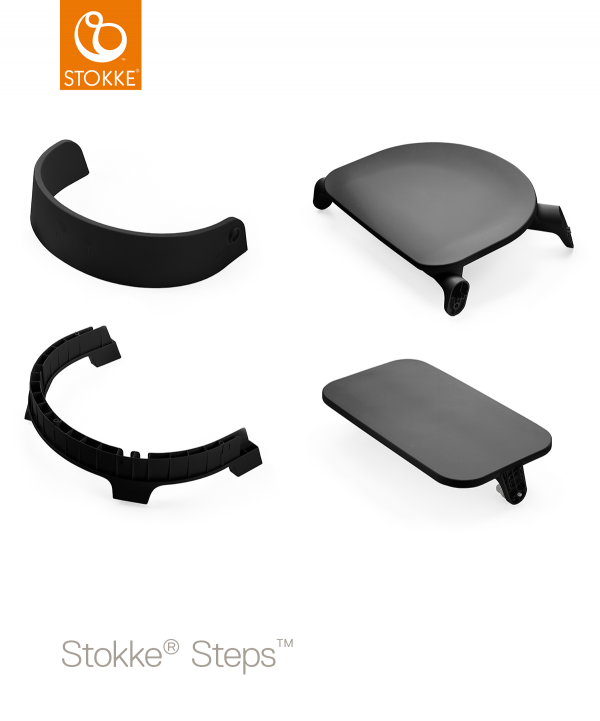 Черное сиденье Stokke Steps Baby Set Black